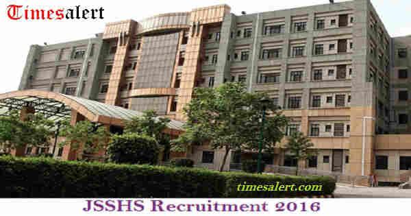 JSSHS Recruitment 2016
