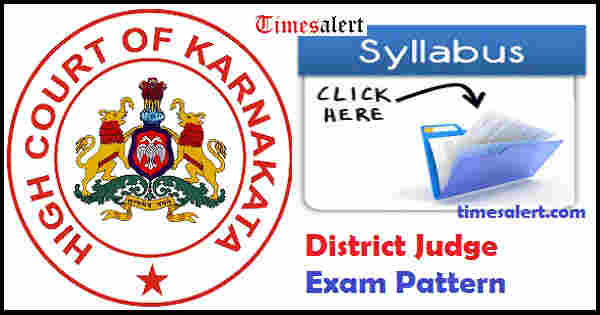 Karnataka High Court District Judge Syllabus 2016