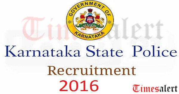 Karnataka State Police Recruitment 2016