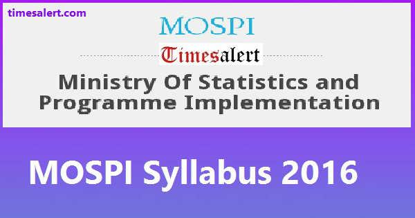 MOSPI Syllabus 2016
