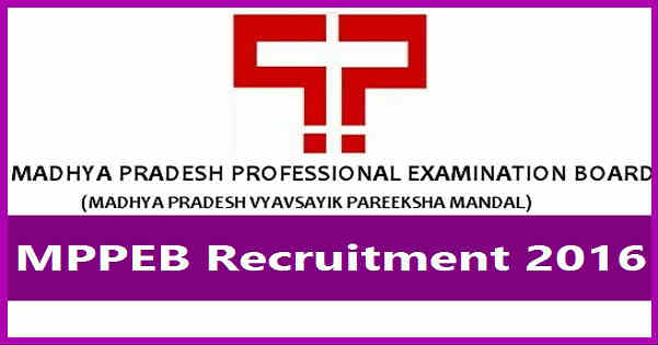 MPPEB Recruitment 2016