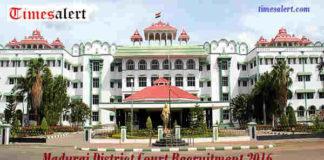 Madurai District Court Recruitment 2016