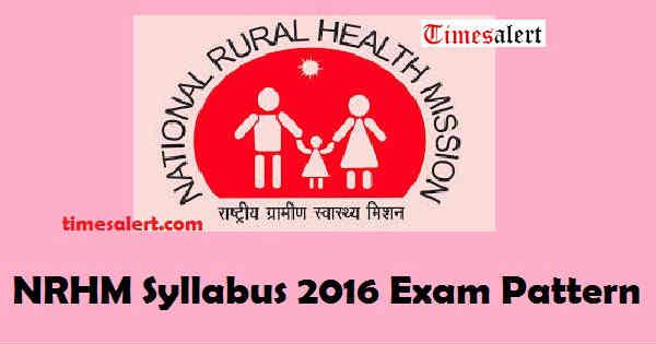 NRHM Syllabus 2016