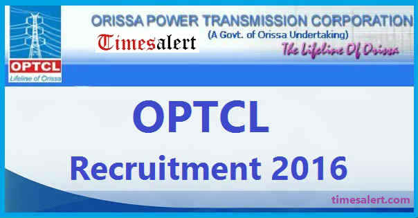 OPTCL Notification 2016
