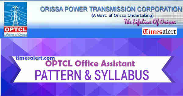 OPTCL Office Assistant Syllabus 2016