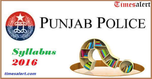 Punjab Police Constable Syllabus 2016
