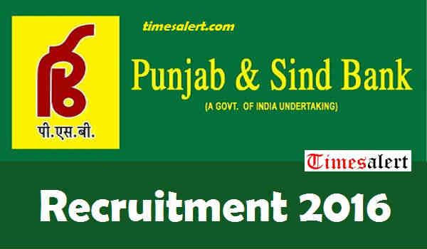 Punjab Sind Bank Recruitment 2016