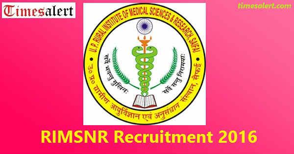 RIMSNR Recruitment 2016
