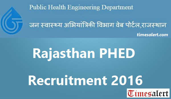 Rajasthan PHED Recruitment-2016