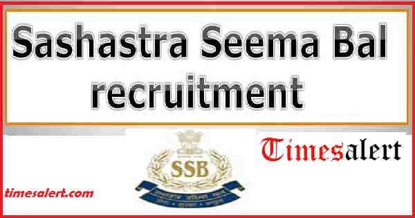 Sashastra Seema Bal Recruitment 2017