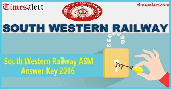 South Western Railway ASM Answer Key 2016