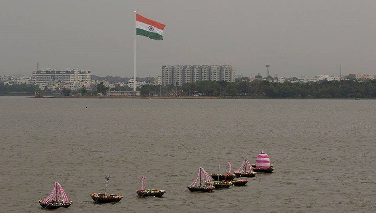 Telangana Biggest National Flag Photos (1)