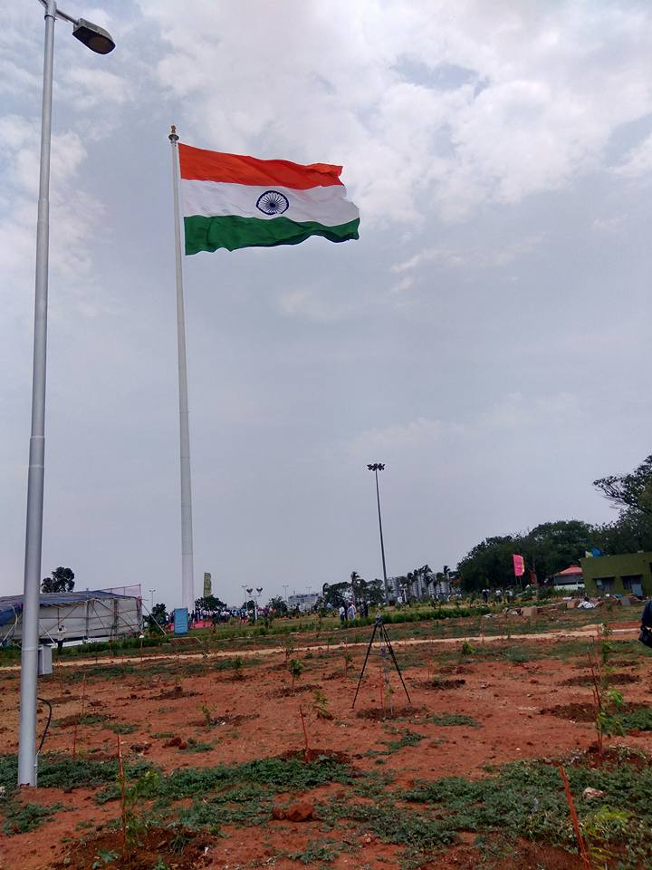 Telangana National Flag Photos