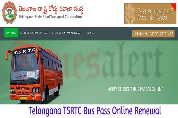 Telangana TSRTC Bus Pass Renewal