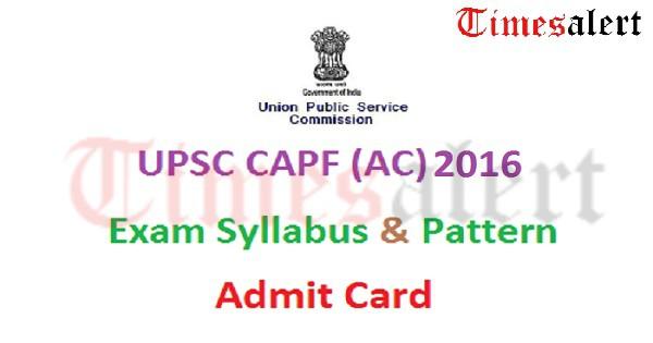 UPSC-CAPF-AC-Admit-Card-2016