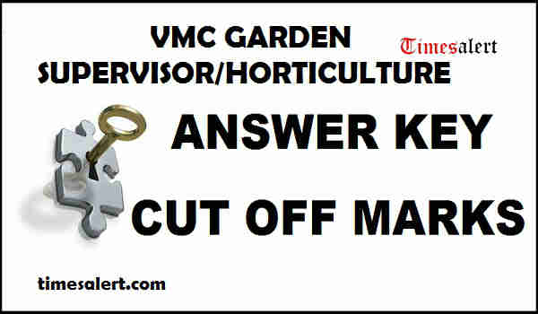 VMC Garden Supervisor Answer Key 2016