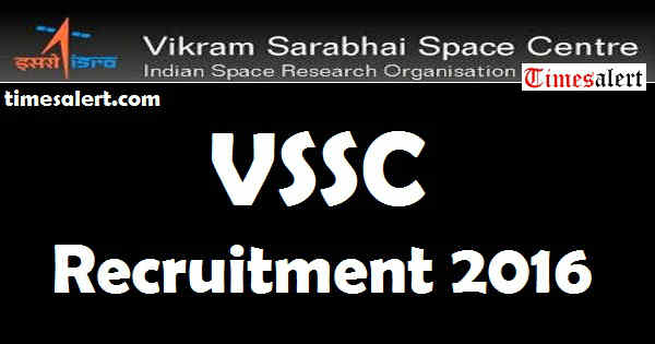 VSSC Recruitment 2016
