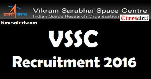 VSSC Recruitment 2016