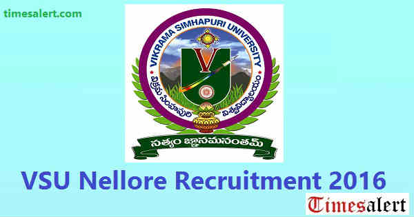 VSU Nellore Recruitment 2016
