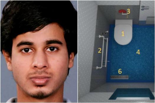 Vinod designing train toilets