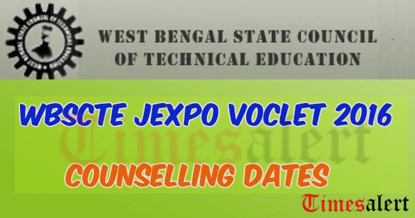 WBSCTE JEXPO VOCLET 2016 Counselling Dates