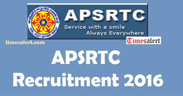 APSRTC Recruitment 2016