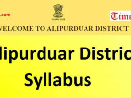 Alipurduar District Syllabus