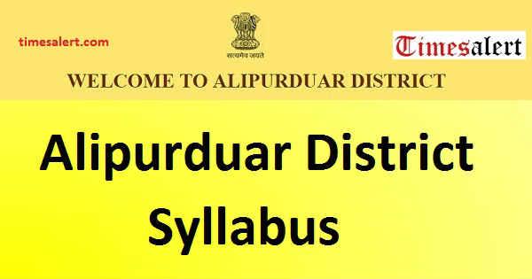 Alipurduar District Syllabus