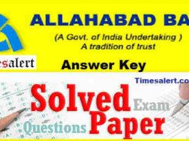 Allahabad Bank Answer Key