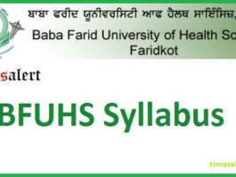 BFUHS Syllabus