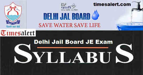 Delhi Jal Board JE Syllabus