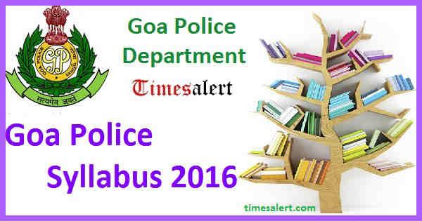 Goa Police Syllabus 2016