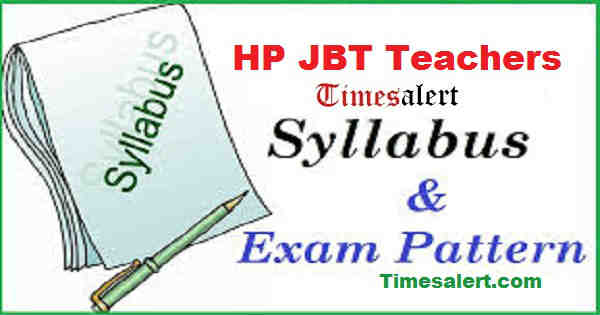 HP JBT Teachers Syllabus