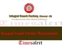 Integral Coach Factory Recruitment