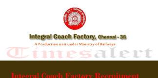 Integral Coach Factory Recruitment