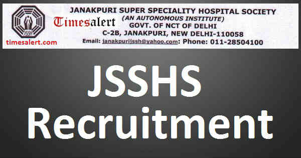 JSSHS Recruitment