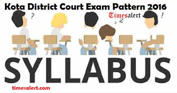 Kota District Court Syllabus 2016