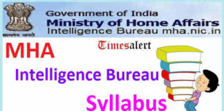 MHA Intelligence Bureau Syllabus
