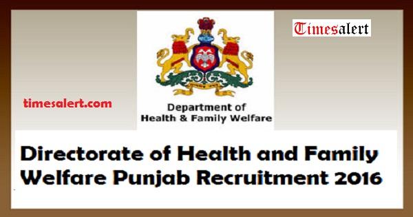 Punjab Health Department Recruitment 2016