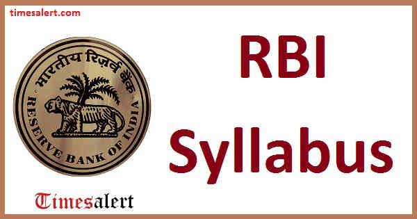 RBI Syllabus