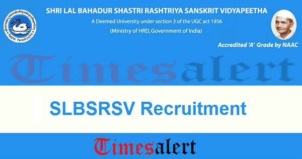 SLBSRSV Recruitment