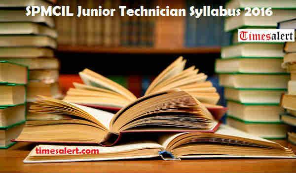 SPMCIL Syllabus 2016