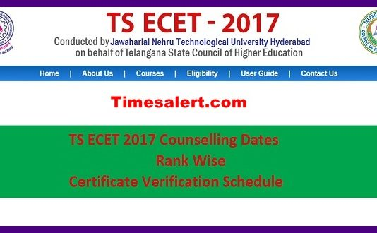 TS ECET Counselling Dates