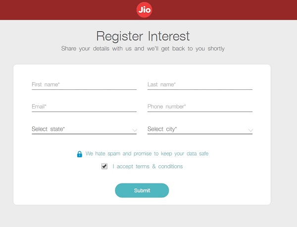 Buy Reliance Jio 4G SIM Online