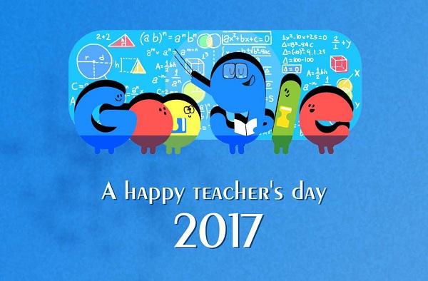 Happy Teachers Day Google Doodle