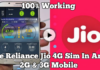 Use Reliance Jio 4G Sim in 3g Mobile