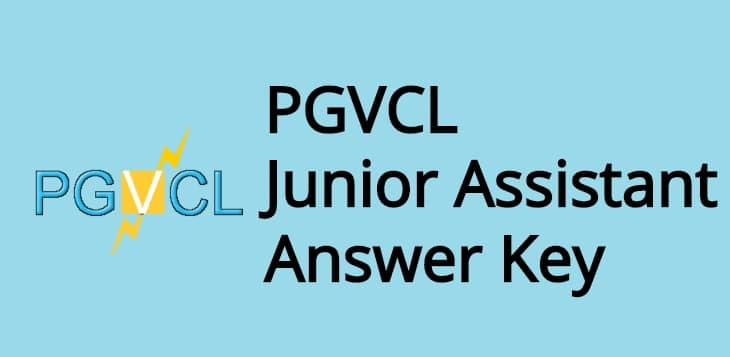 PGVCL Junior Assistant Answer Key