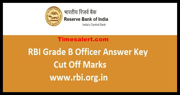 RBI Grade B Officer Answer Key
