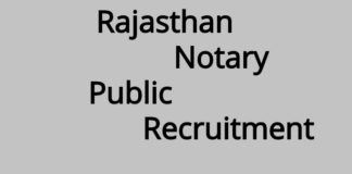 Rajasthan Notary Public Recruitment