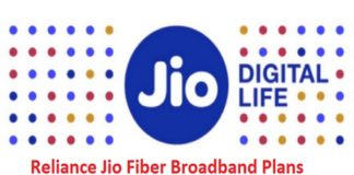 Reliance Jio Fiber Broadband Plans